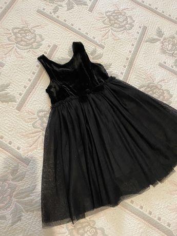 Платье чорный бархат H&M 4-5 лет