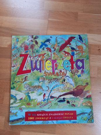 Ogromna książka  obrazkowa Zwierzęta  świata - 1 metr po rozłożeniu.