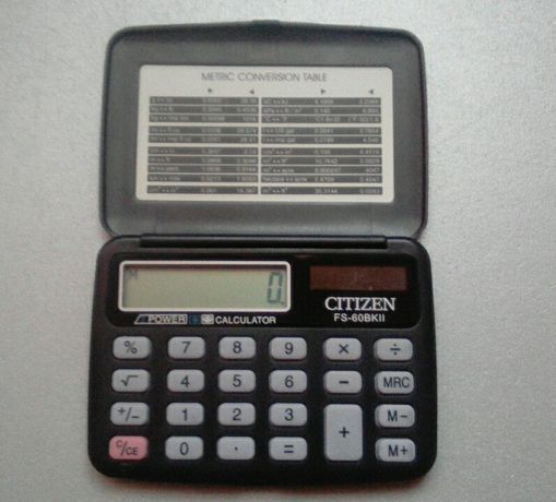 Продам калькулятор CITIZEN fs - 608bk