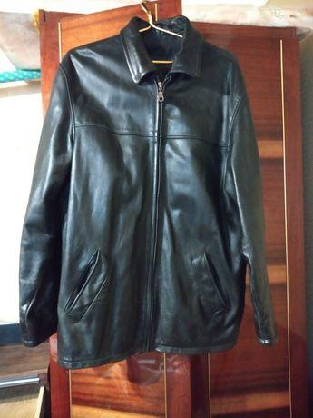 Куртка кожаная мужская xl.б.у.