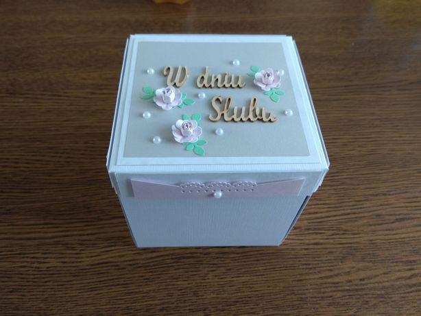 Kartka ślubna, piekny exploding box. Idealna pamiątka