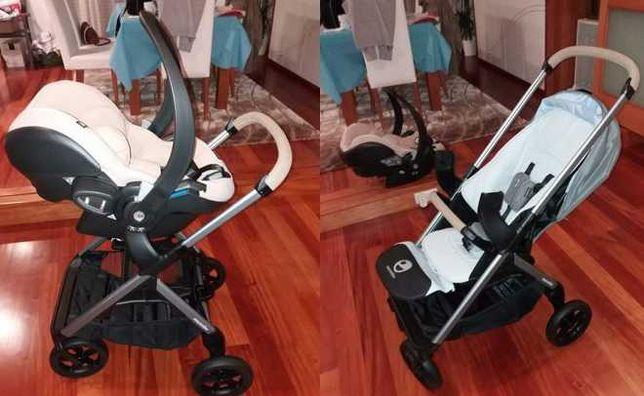 Carrinho de bebé Easywalker-Mosley + Babycoque BeSafe em bom estado