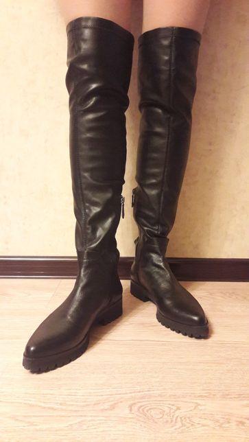 Ботфорты Geox кожаные