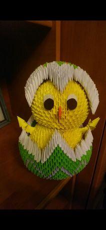 Wielkanocny kurczak origami
