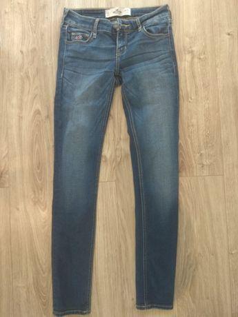 Spodnie rurki skinny holister jeansy Abercrombie S