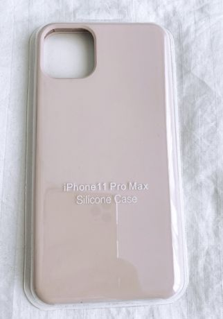 Etui case silikonowe gumowe Iphone 11 Pro Max pudrowy róż