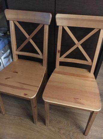 IKEA INGOLF krzesło jadalnia lita sosna