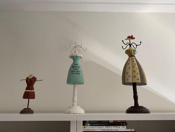 Conjunto 3 bustos decorativos