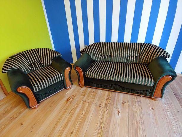 Meble salonowe, sofa i 2 fotele prezydenckie, zamiana na BMW GS 650 !