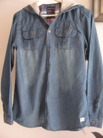 koszula cienki jeans z kapturem * Reserved
