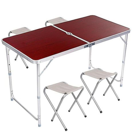 Набор для пикника складной стол + 4 стула