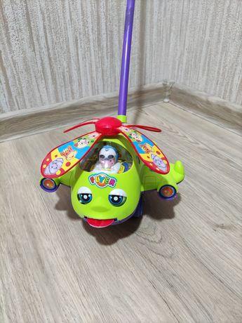 Вертолет каталка игрушка толкалка