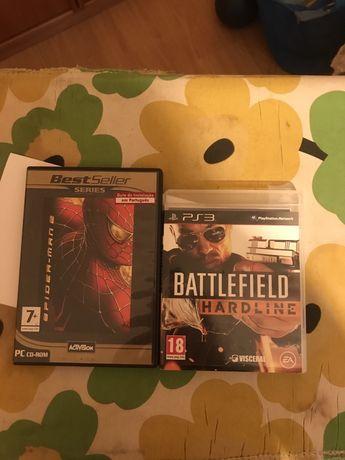 Jogos PS3 e PC BATTLEFIELD Hardline e Spider Man