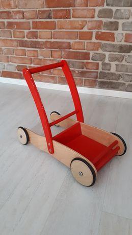 Wózek drewniany do nauki chodzenia