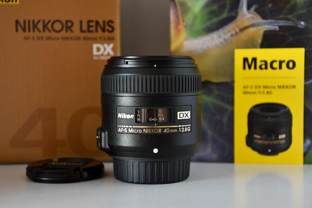 Nikon 40mm f2.8G Macro DX. Новий. Кращий як 35mm, 50mm 1.8