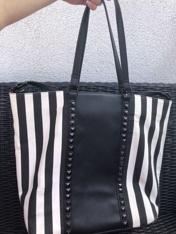 Torebka włoskiej marki Marina Galanti zebra ćwieki