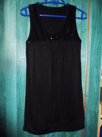 czarna sukienka - tunika rozmiar M