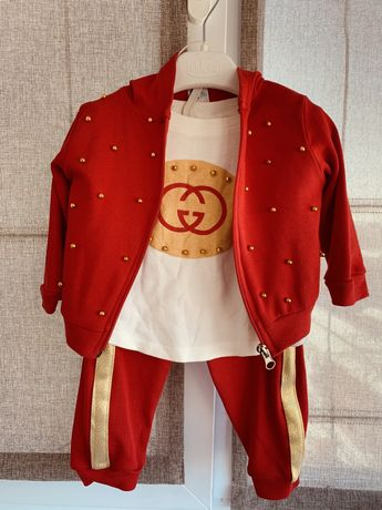 Спортивный костюм тройка, для девочки, р.80-86