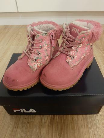 Buty zimowe fila dla dziewczynki rozmiar 23
