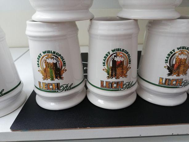 Nowy kufel ceramiczny 700ml do piwa napojów skarby Wielkopolski Lech