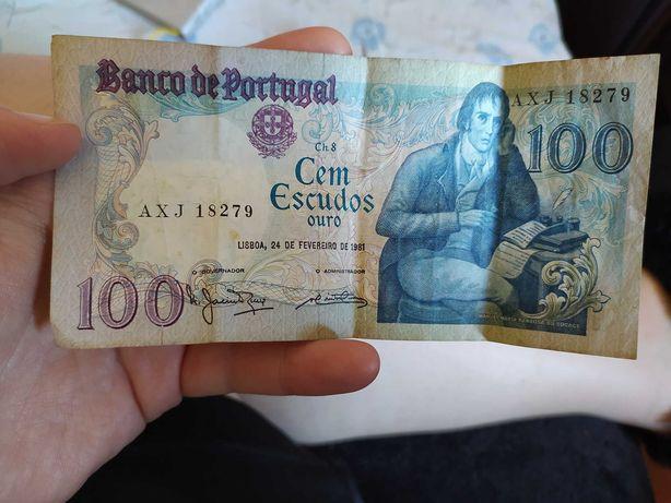 Nota 100 escudos 1981