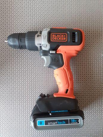 Wkrętarka Black and Decker 18v z udarem + akumulator 2.0 SmartTech
