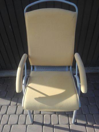 Komplet 4 krzeseł metalowych mocnych