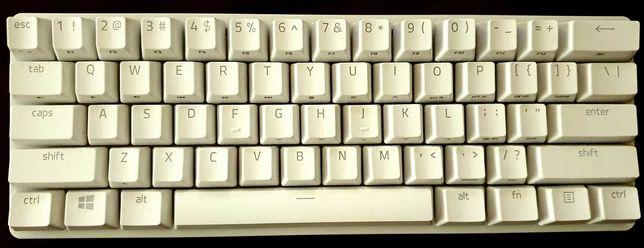 Klawiatura Razer Huntsman Mini White, fioletowe switche