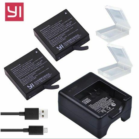 Ładowarka do Camery Yi 4K plus, 4K, 4K LITE + dwie baterie