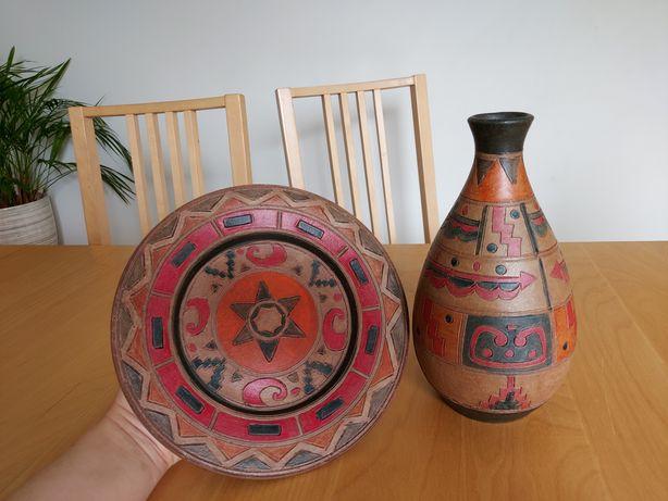 Wazon/Gliniane naczynia /Grecja /DEKORACJA/ ręcznie robione/ wys. 24cm