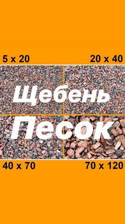 Доставка Пісок річковий Щебінь Відсів Чорнозем Торф Пісок Яружний