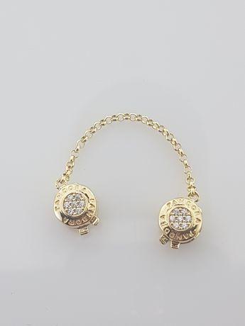 Złote elementy charms na bransoletkę Pandora 14k.Nowe (275)