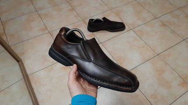 42-43р,стелька28см, Кожаные ботинки,туфли Skechers (Скечерс), отличное