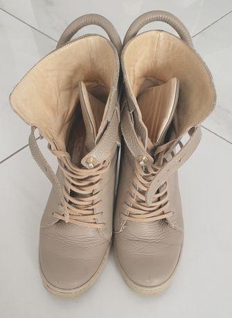 Badura  sneakersy  koturn skora 37