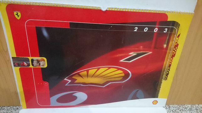 Calendário Shell Ferrari 2003