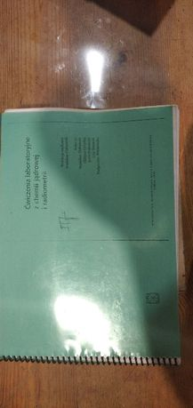 Ćwiczenia laboratoryjne z chemii jądrowej i radiometrii, skan