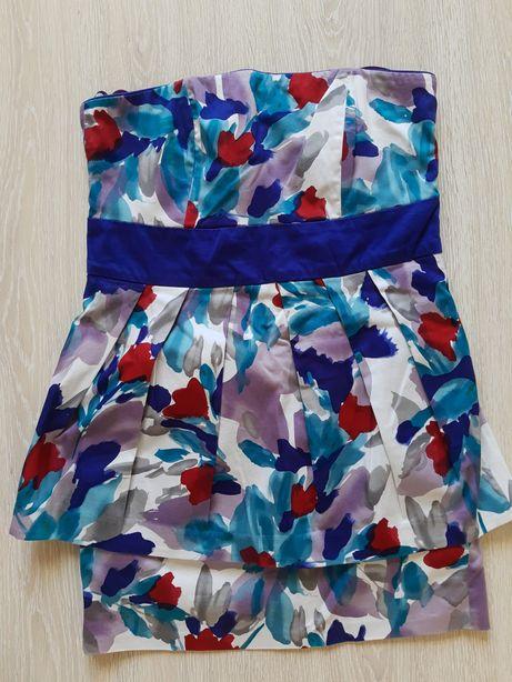 Sukienka bombka z baskinką New Look. piękna