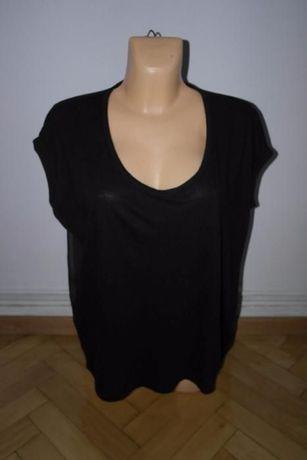 new look czarna bluzka oversize transparentny tył r 40