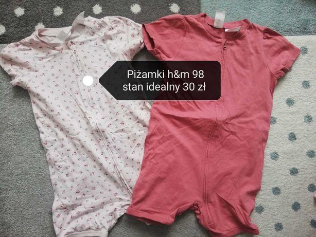 Piżamki h&m 98 stan idealny