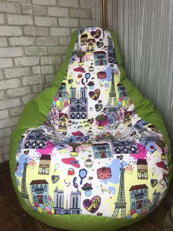Крісло мішок,мягкий Пуф,кресло Груша оксфорд+Прінт ! Харьков доставка