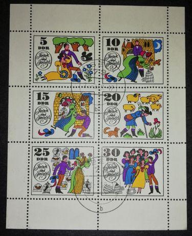 Niemcy DDR Jorinde and Joringel znaczek / znaczki / blok
