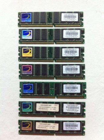 Lote de 7 x Memória RAM 256MB