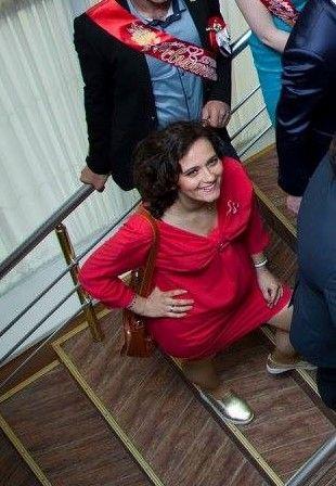 Платье для беременных, размер М, красное