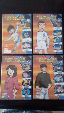 4 DVD Campeões Oliver e Benji