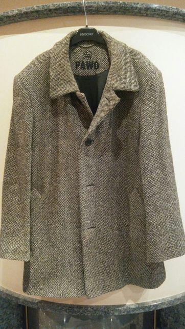 Płaszcz kurtka Pawo XL L kurteczka w składzie wełna jodełka