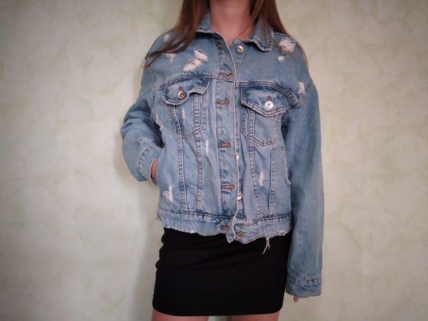 Джинсовка, джинсовая куртка, stradivarius, denim jeans