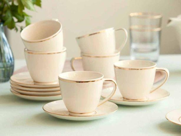NOWY Serwis kawowy Porcelana MARIAPAULA Filiżanki do kawy