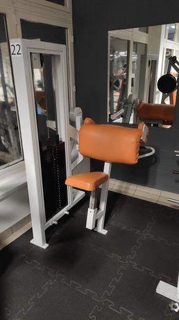 Lawka scotta maszyna biceps stos 120kg modlitewnik sztanga hantle gryf