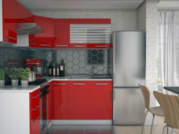 Akryl narożny zestaw mebli 3,6 m meble kuchenne kuchnia Zosia 01