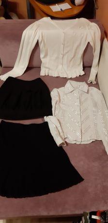 3-spódniczki biały sweterek i bluzka